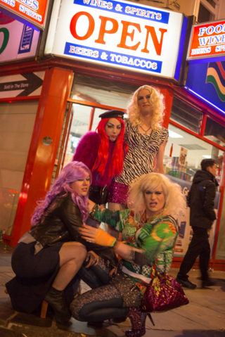 crossdresser escorted nightclub trips in LONDON